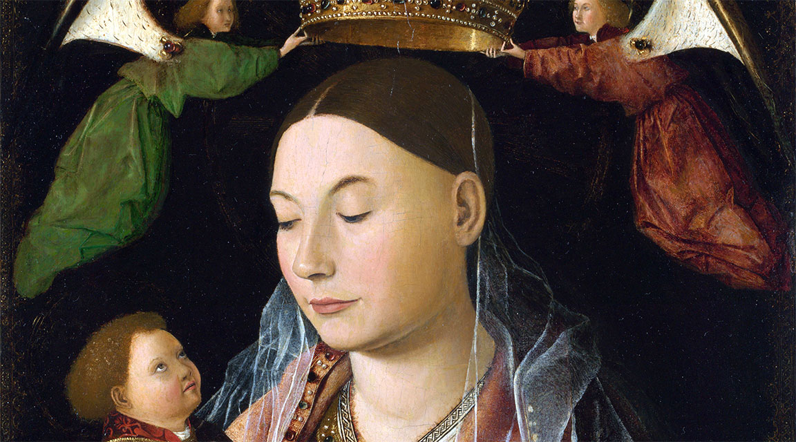 La Madonna col bambino di Antonello da Messina: il dettaglio del volto