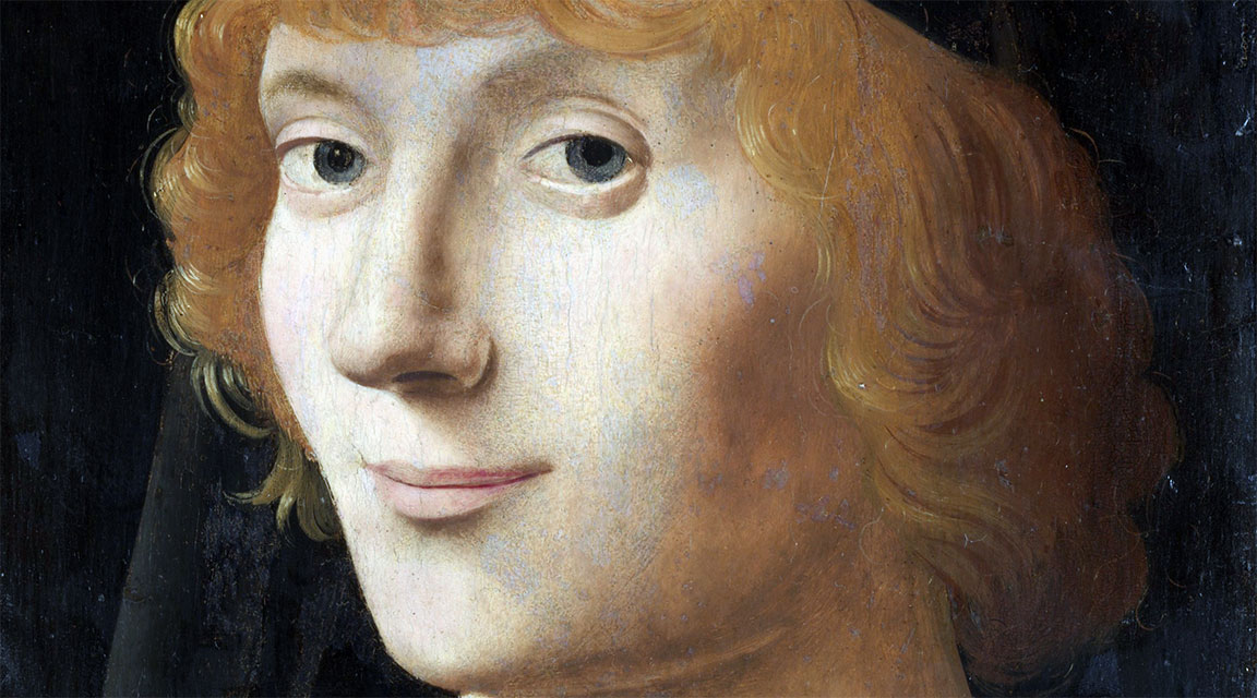 Ritratto di Giovane (New York), Antonello da Messina - dettaglio del volto