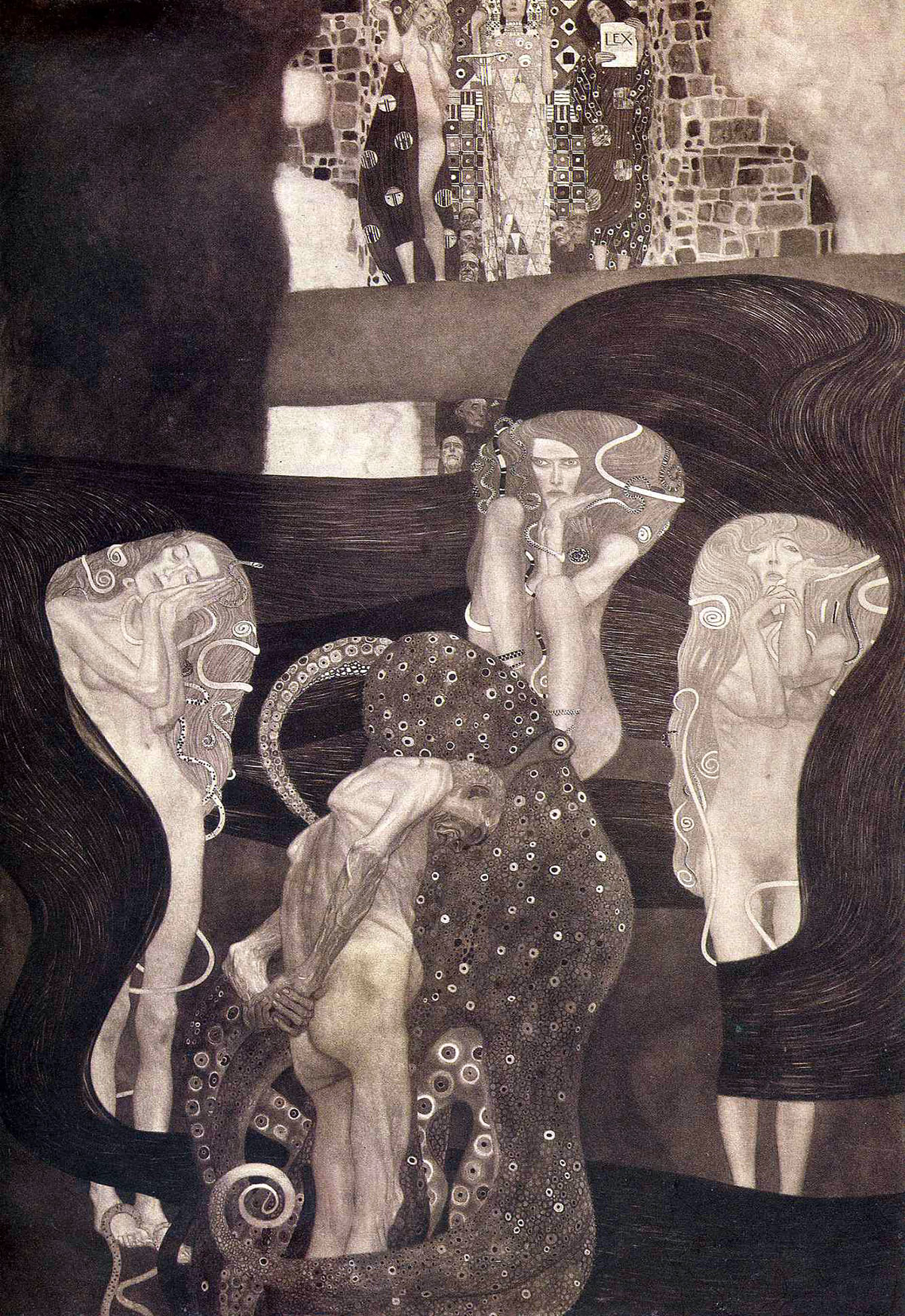 Quadri delle facoltà di Klimt: La Giurisprudenza fu realizzata nel periodo 1903-1907