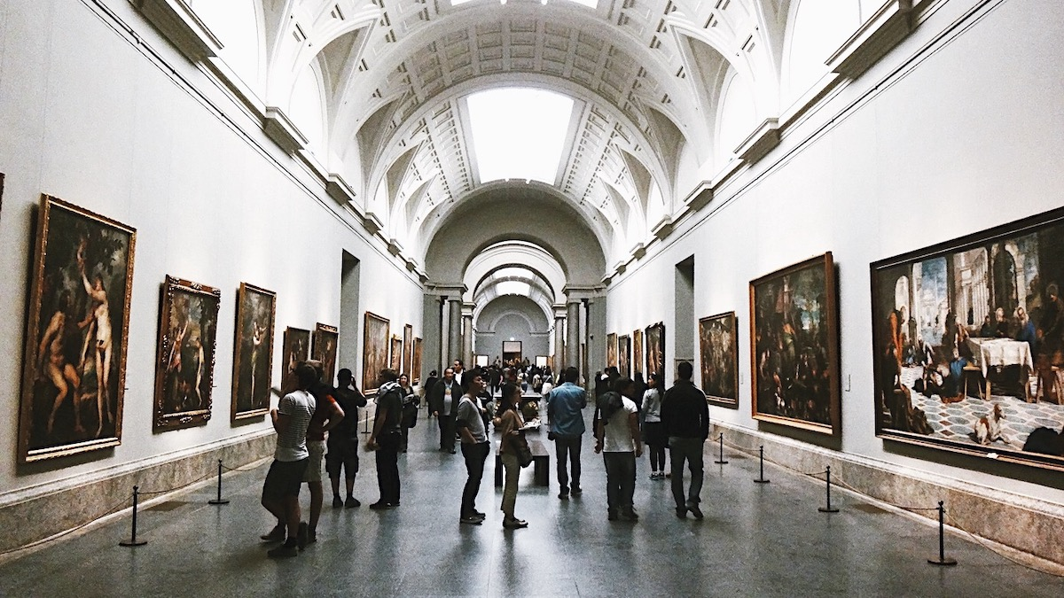 Un corridoio del Museo del Prado