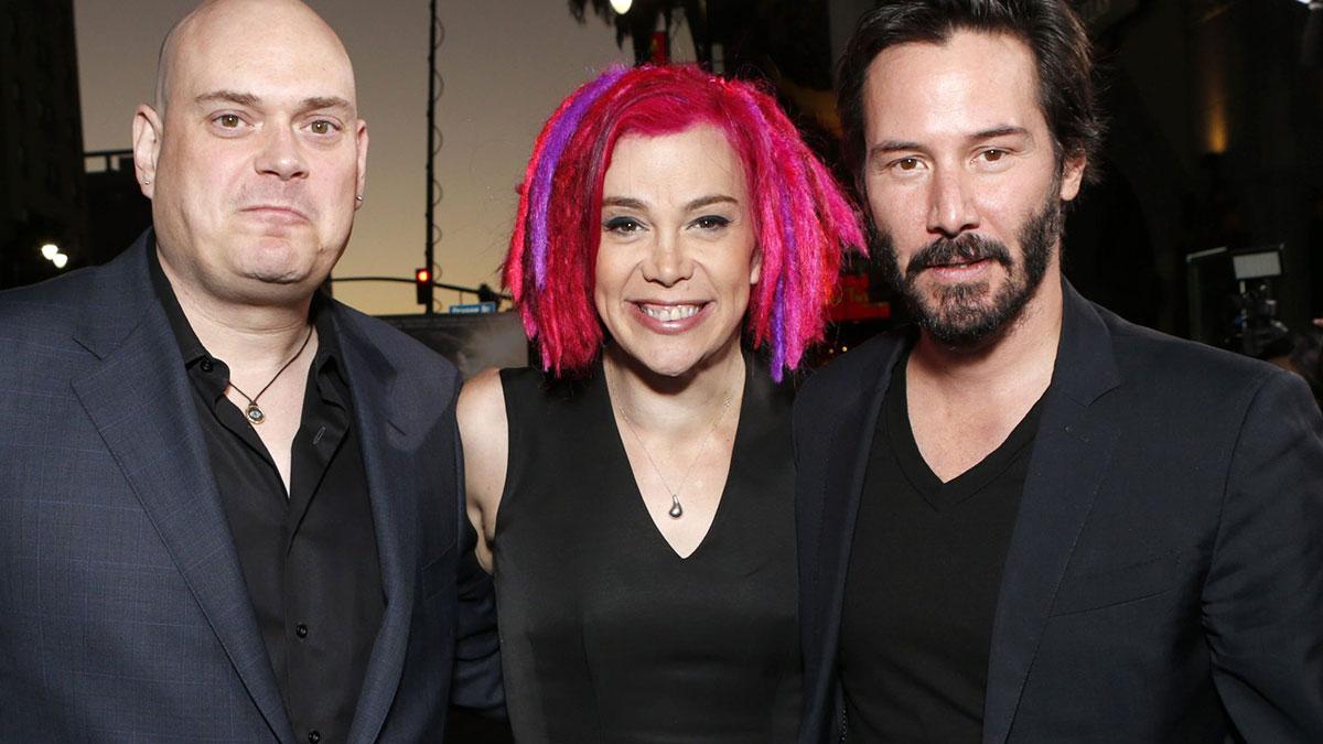 Lilly e Lana Wachowski con Keanu Reeves