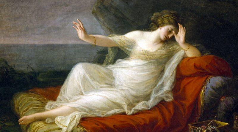 Arianna abbandonata da Teseo sull'isola di Naxos - quadro di Angelica Kauffman
