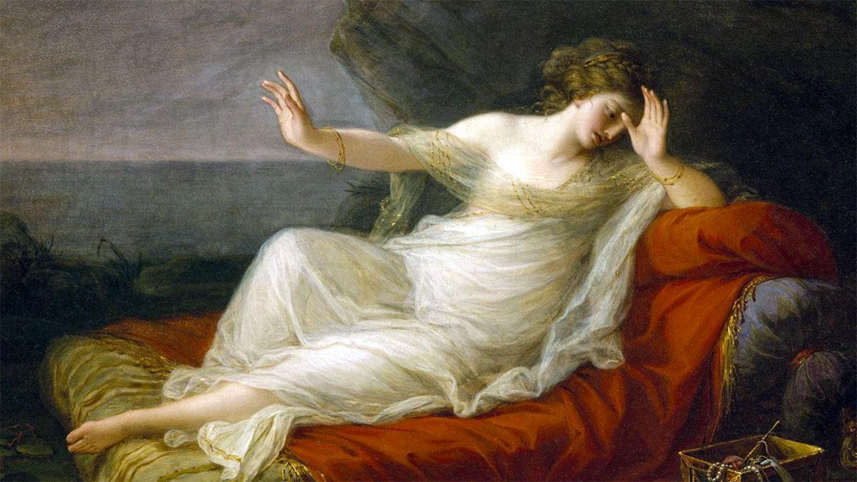 Mito di Arianna: Arianna abbandonata da Teseo sull'isola di Naxos - quadro di Angelica Kauffman