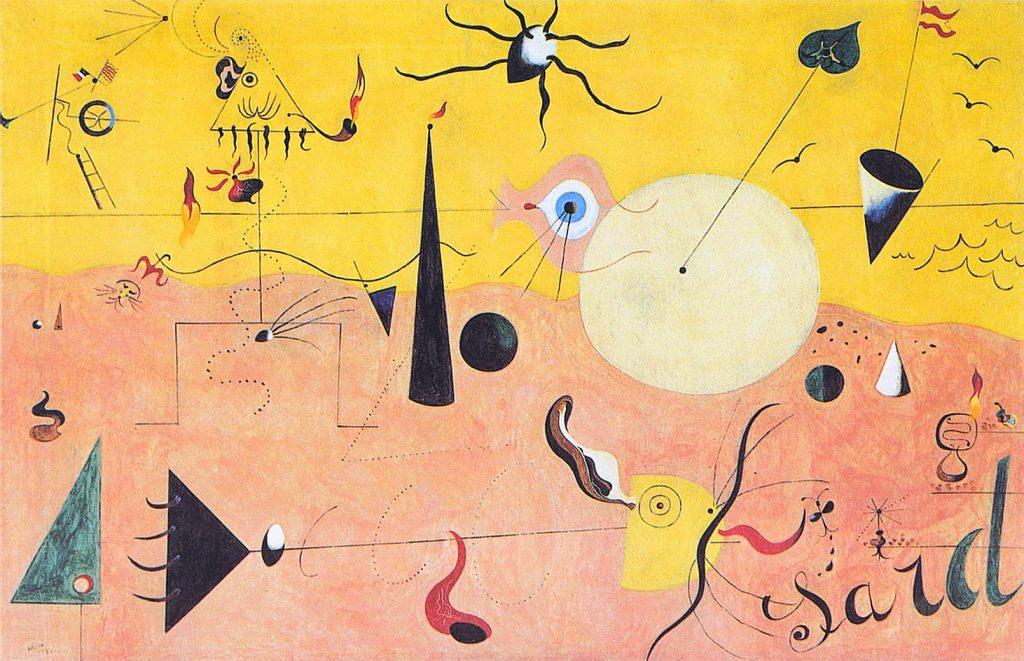 Paesaggio catalano (The Hunter, Il cacciatore), dipinto di Joan Miró