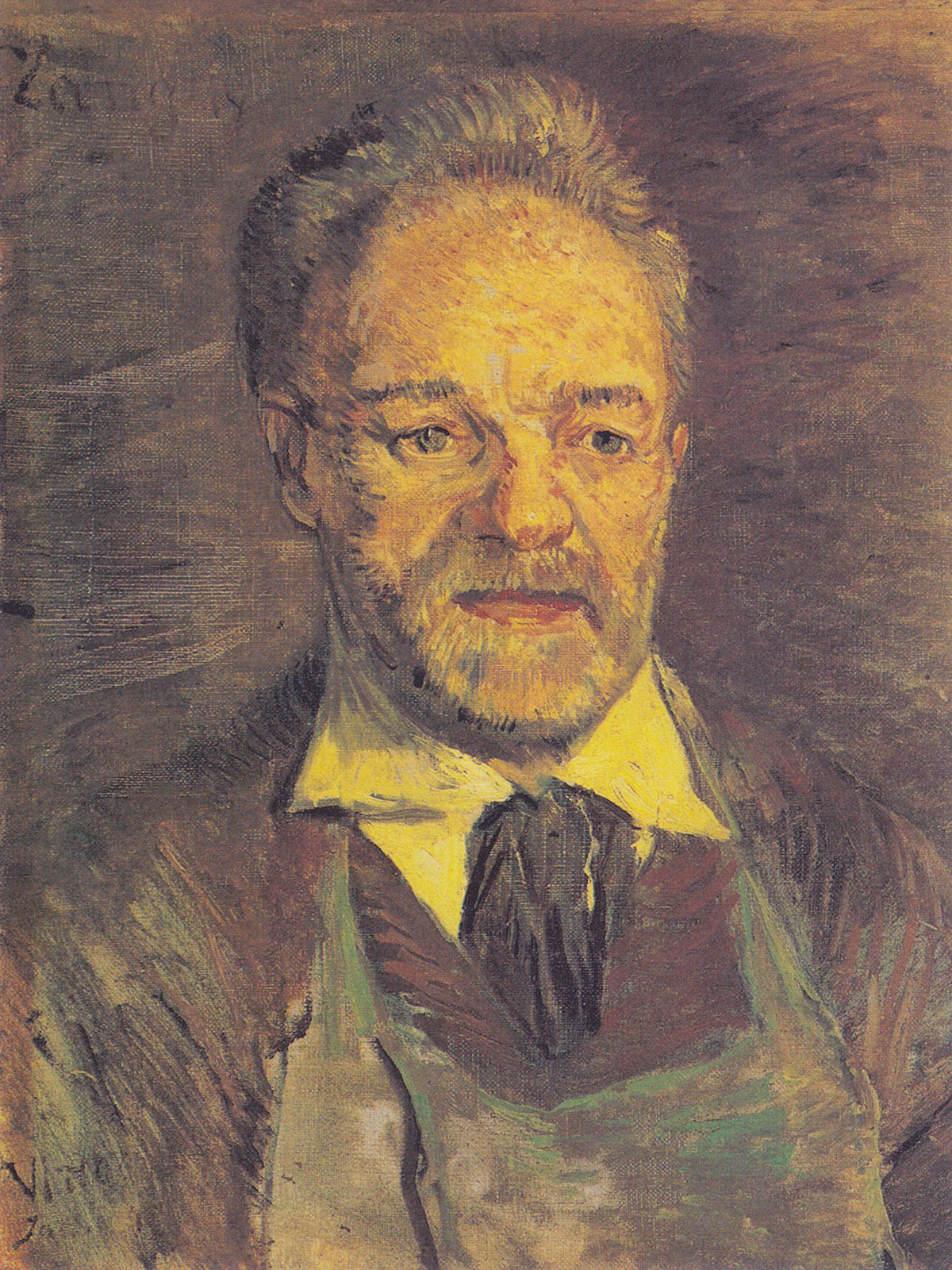 Julien Tanguy ritratto da van Gogh: prima versione
