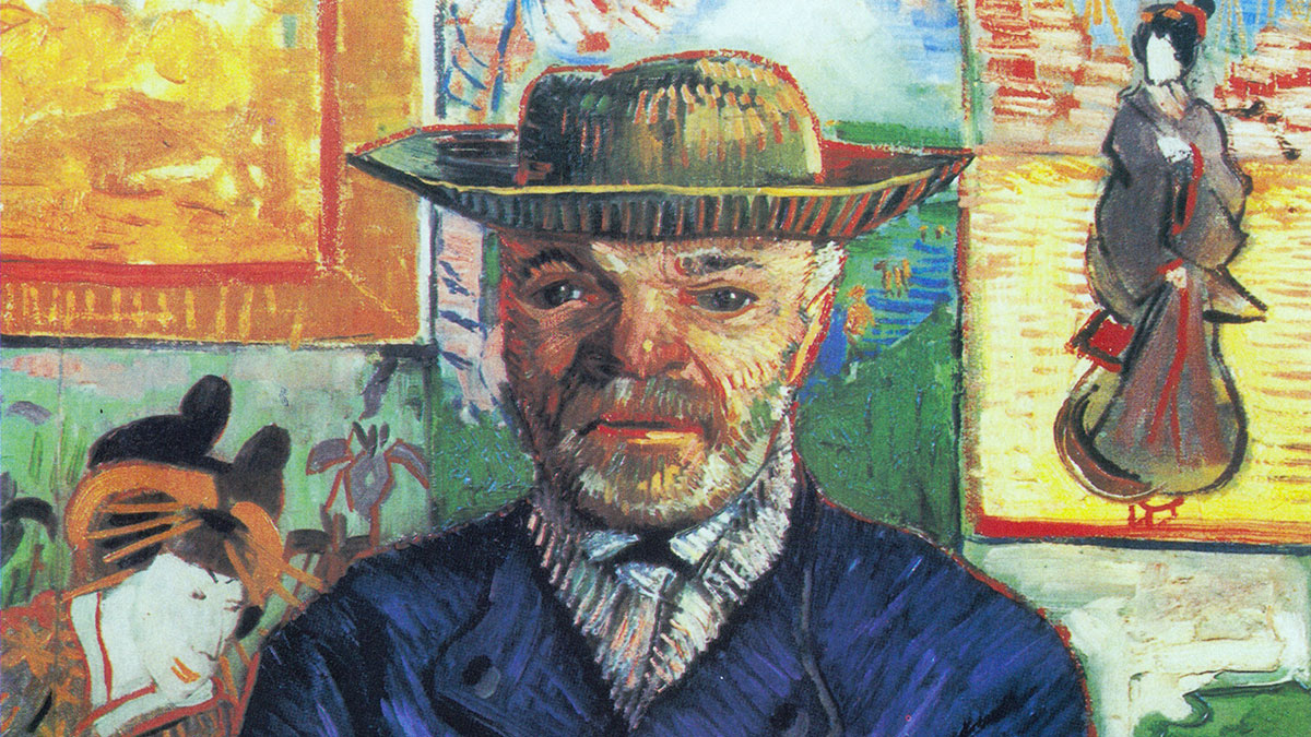 Père Tanguy, dipinto di van Gogh, dettaglio del volto di Julien Tanguy