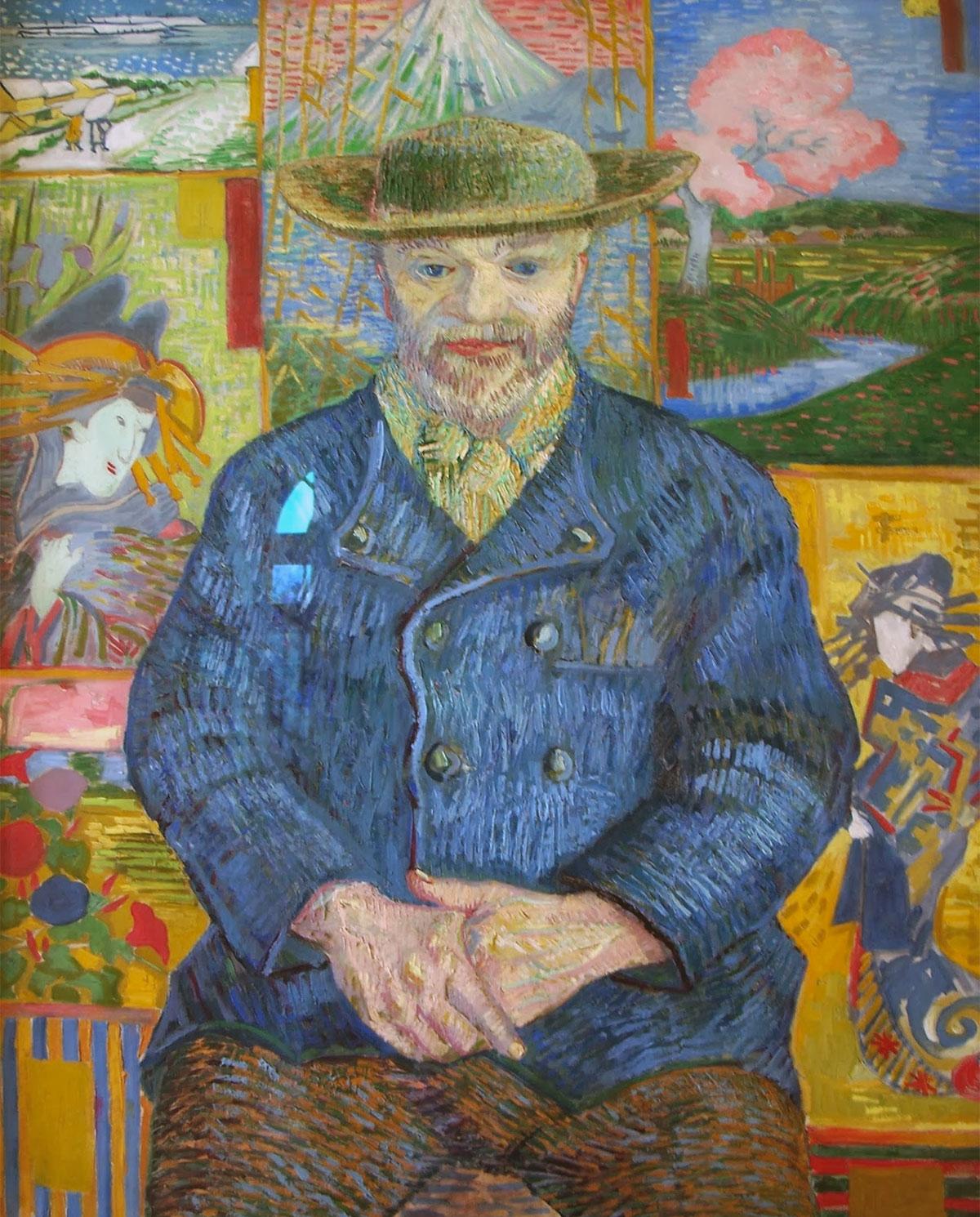 Ritratto di père Tanguy, dipinto di van Gogh