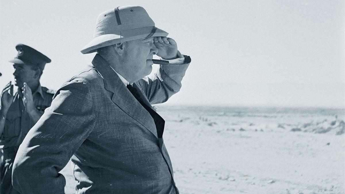 Winston Churchill nel deserto
