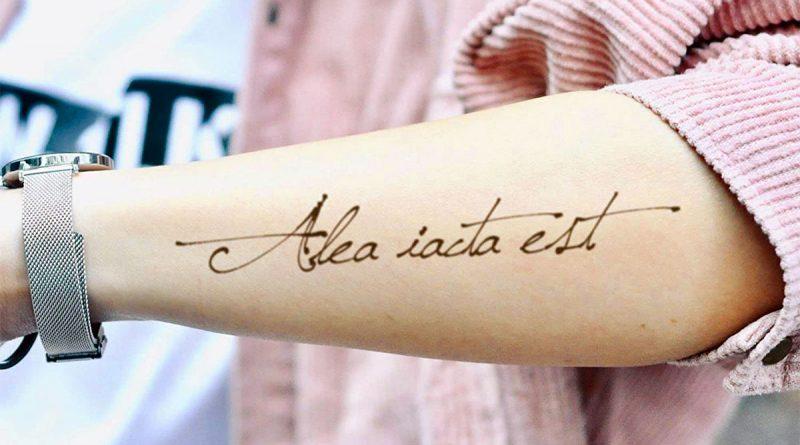 Alea Iacta Est (Il dado è tratto) - tatuaggio