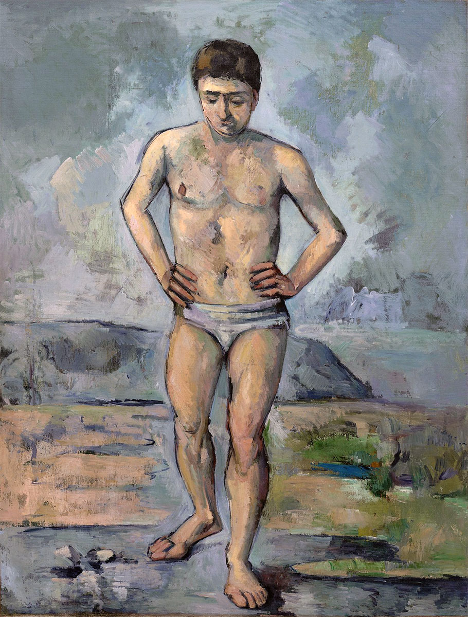 Bagnante - Le Baigneur (The Bather) - opera di Paul Cézanne