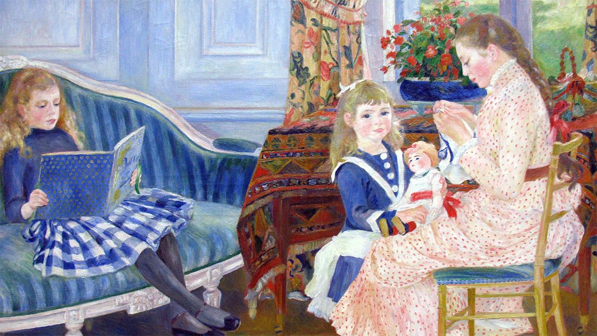 Bambini Bérard a Wargemont, Renoir
