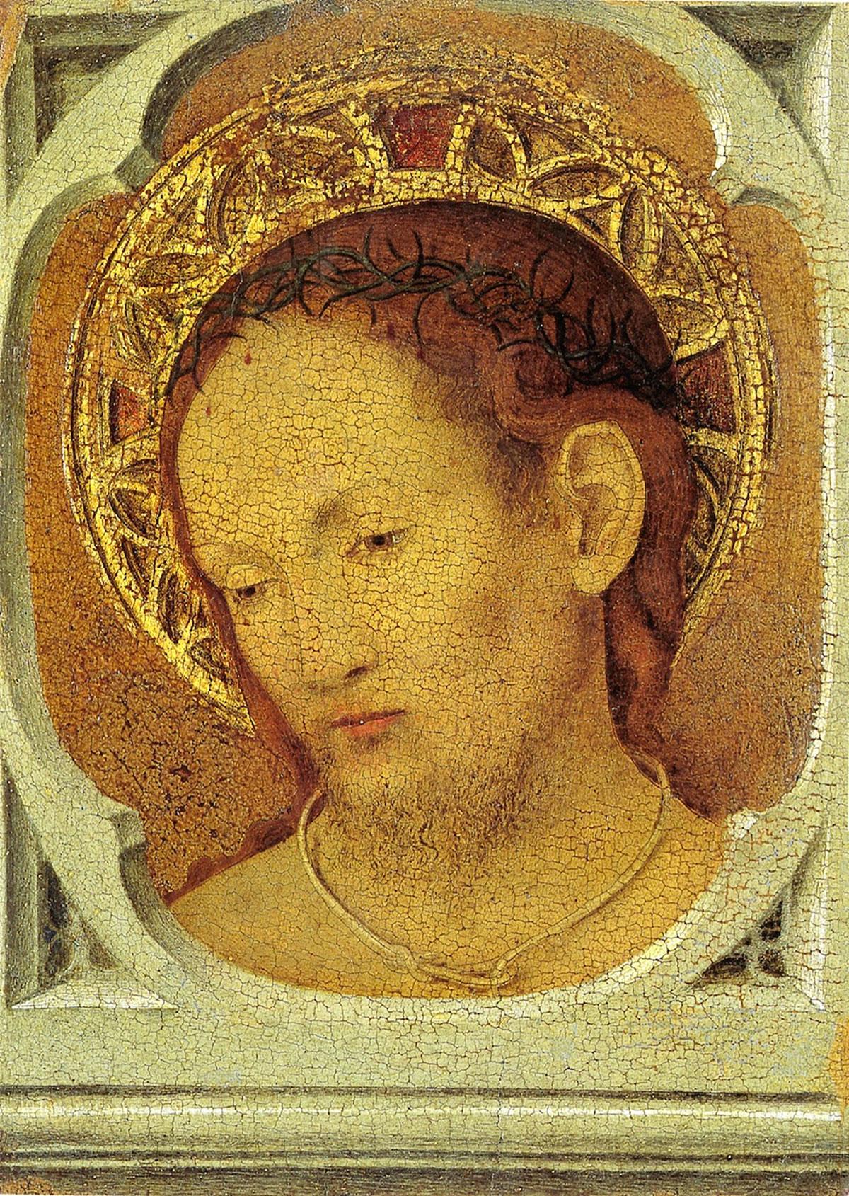 Ecce Homo (verso) - Cristo in pietà - opera di Antonello da Messina