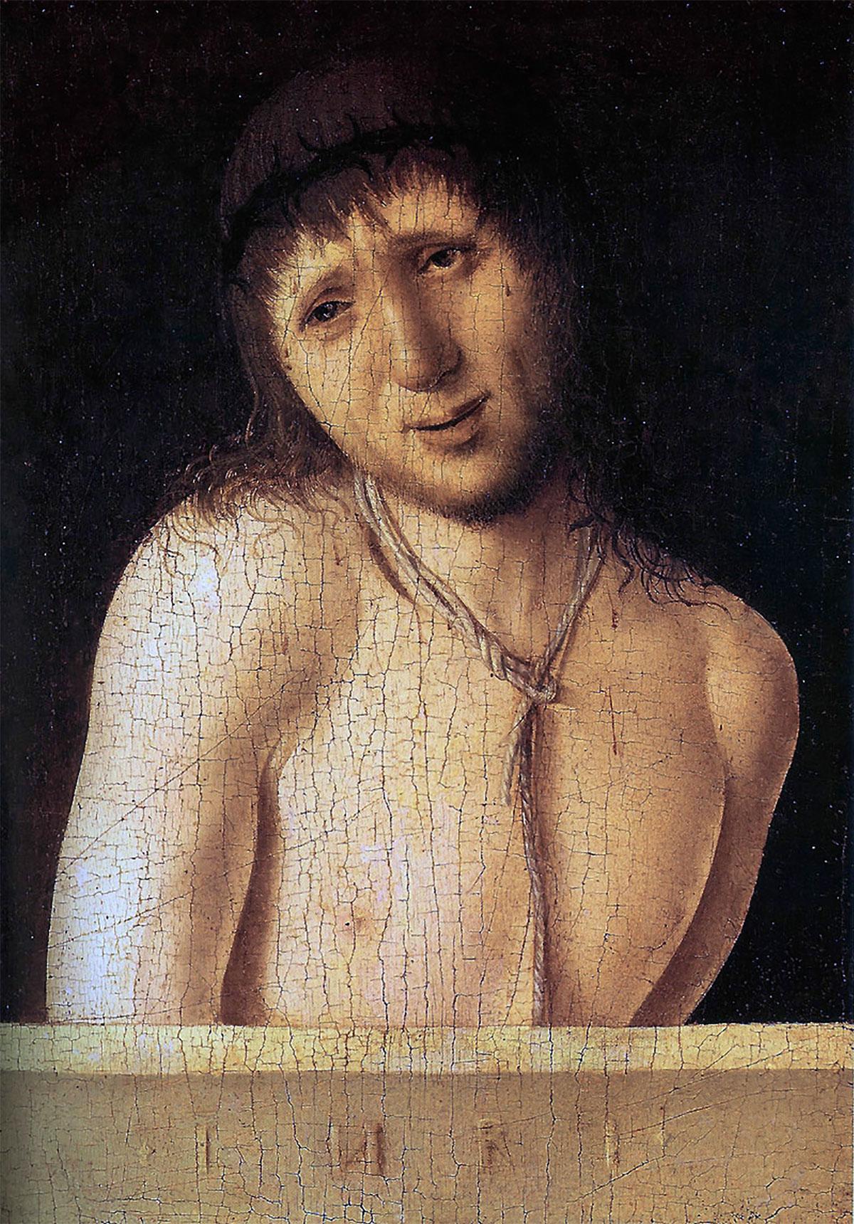 Ecce homo (recto), opera di Antonello da Messina