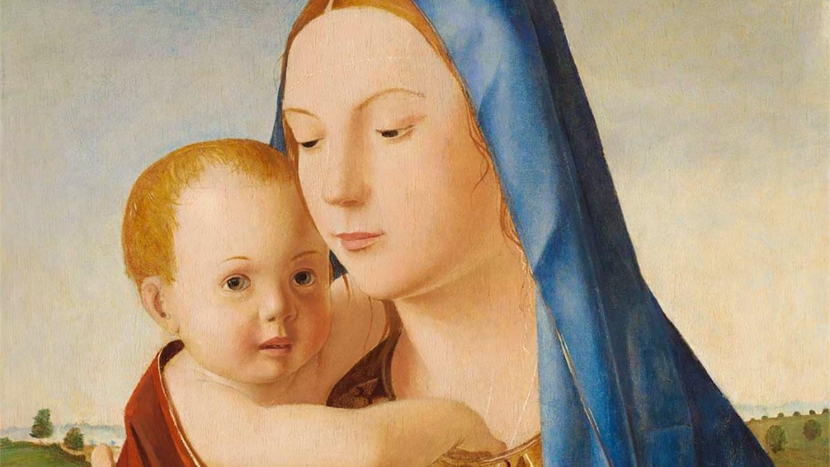 Madonna col Bambino Benson - dettaglio dei volti