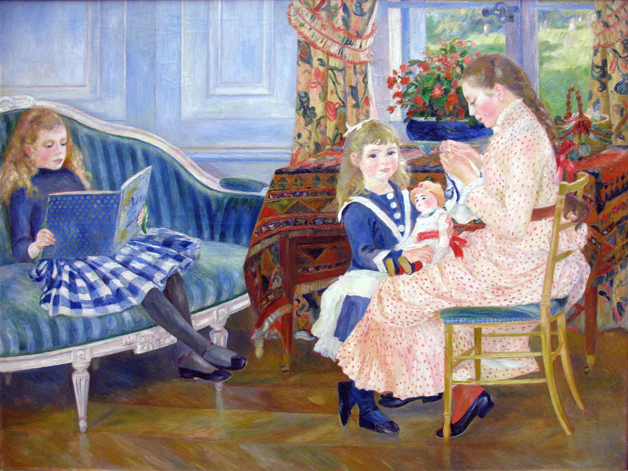 Il pomeriggio dei bambini Bérard a Wargemont (Renoir) - Children's Afternoon at Wargemont - L'après-midi des enfants à Wargemont