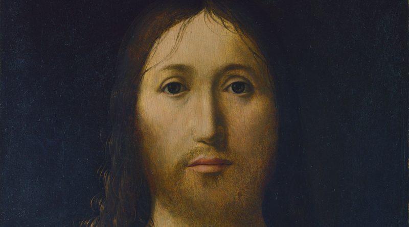 Salvator Mundi, quadro di Antonello da Messina: dettaglio del volto di Gesù