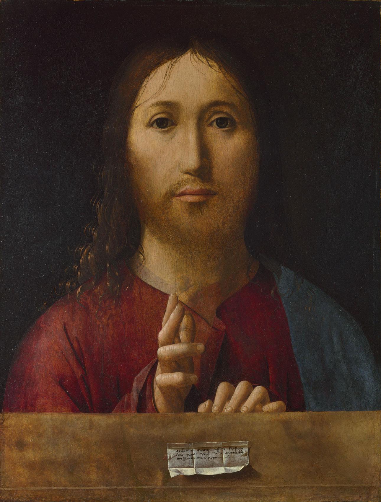 Salvator Mundi - Gesù dipinto da Antonello da Messina (Salvatore del mondo)