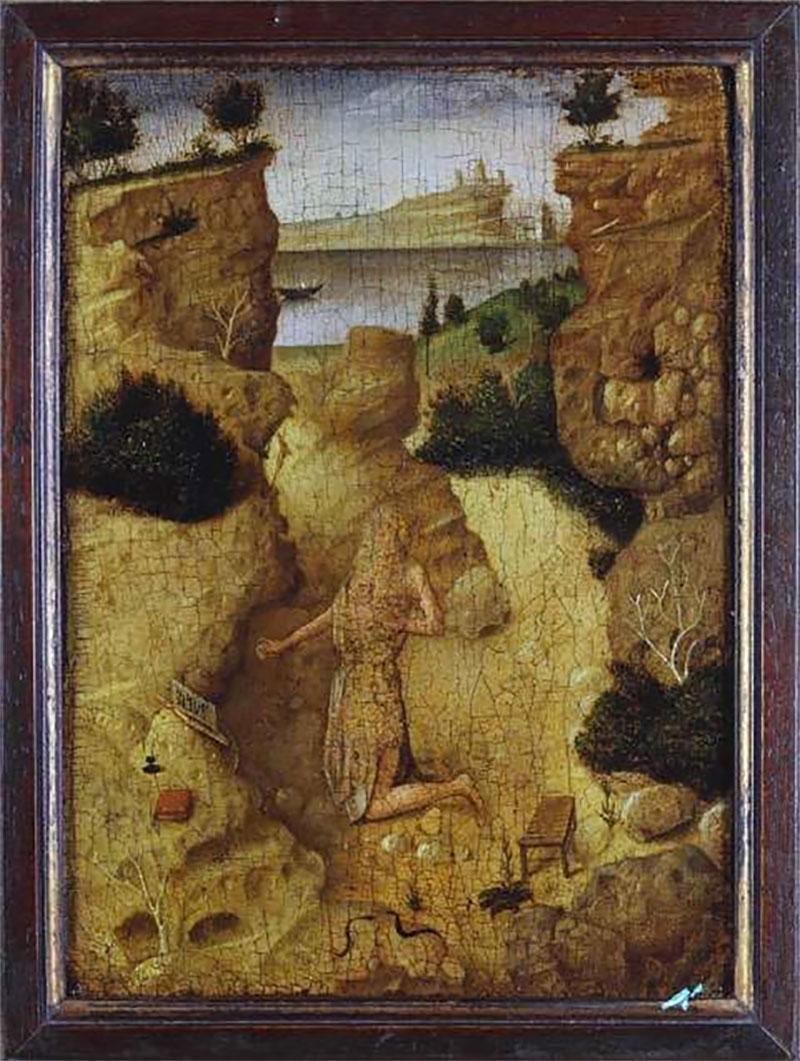 San Girolamo penitente (verso), opera di Antonello da Messina