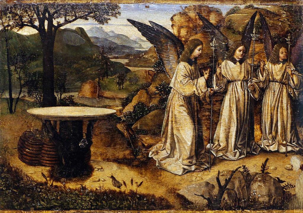 Visita dei tre angeli ad Abramo, quadro di Antonello da Messina