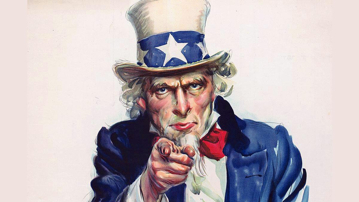 Zio Sam - Uncle Sam • E' la personificazione che rappresenta gli USA