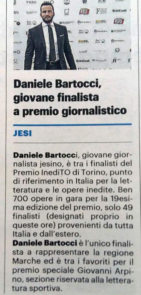 Daniele Bartocci premio InediTO Torino