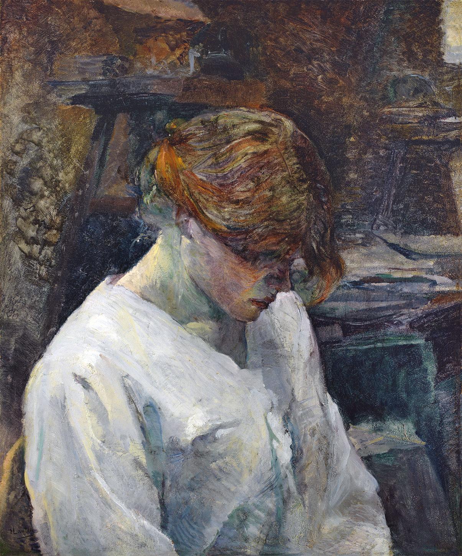 Donna rossa con camicia bianca, quadro di Henri de Toulouse-Lautrec