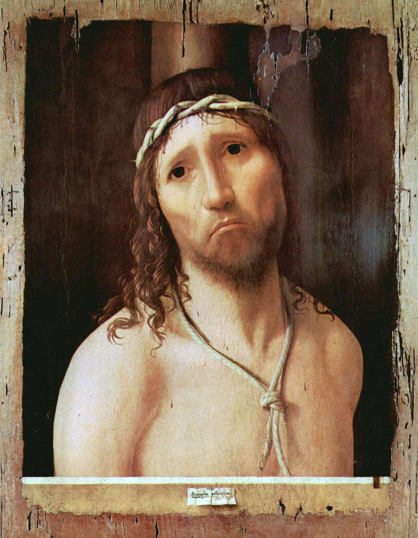 Ecce homo (1475), opera di Antonello da Messina - Piacenza
