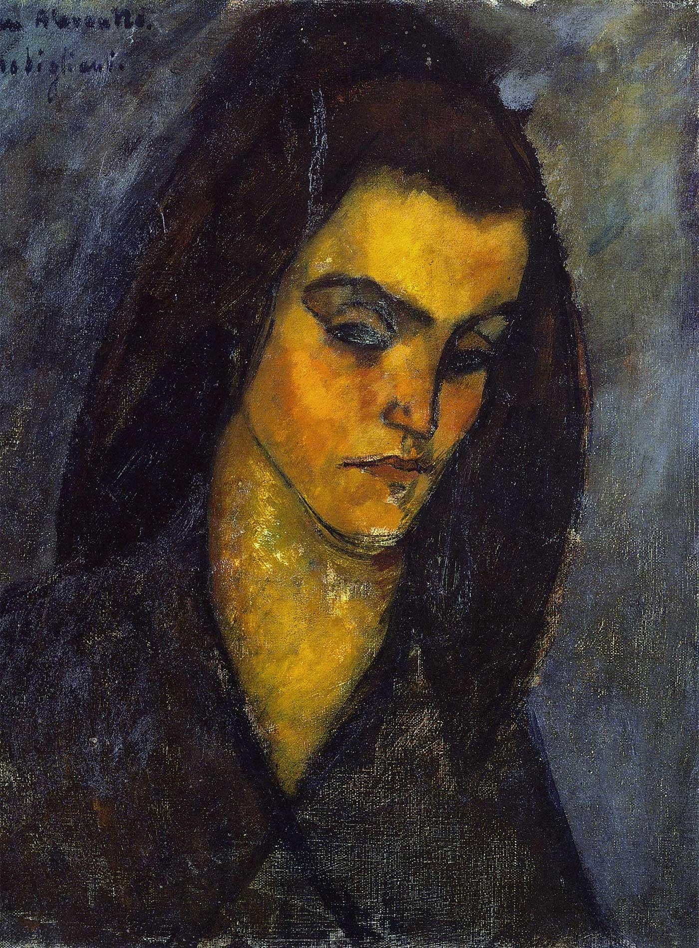 La mendicante (La méndiant) – Olio su tela, 46 x 37,5 cm