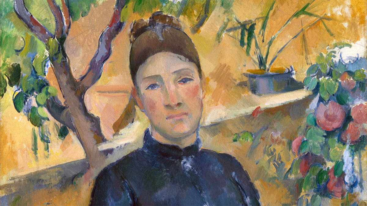 Madame Cézanne - Hortense Fiquet- in the Conservatory