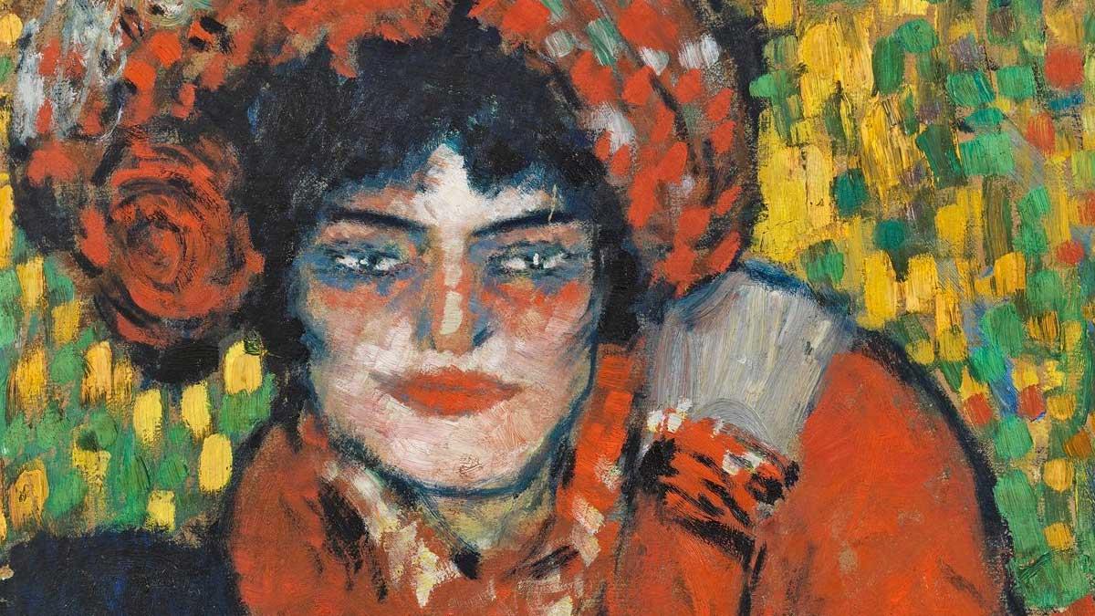Donna imbellettata - Picasso dettaglio del volto