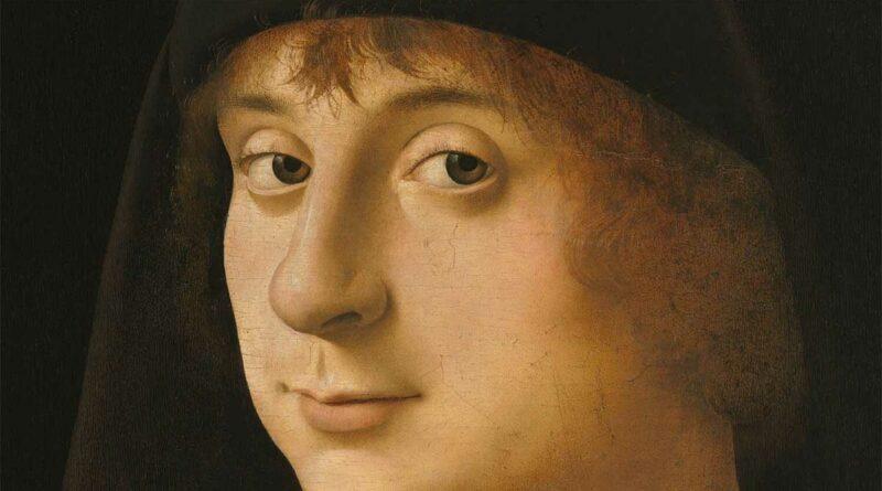 Ritratto di giovane (Philadelphia), Antonello da Messina - dettaglio del volto