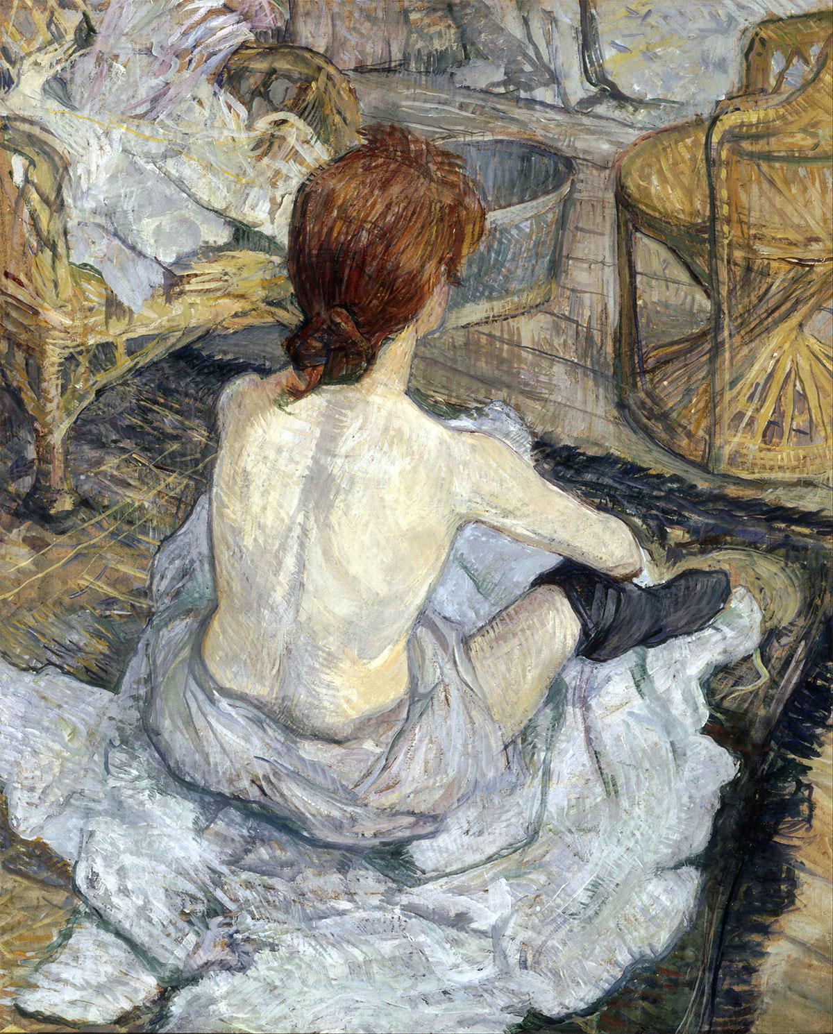 Rousse dit aussi La Toilette (Rossa detta anche La Toilette), quadro celebre di Henri Toulouse-Lautrec