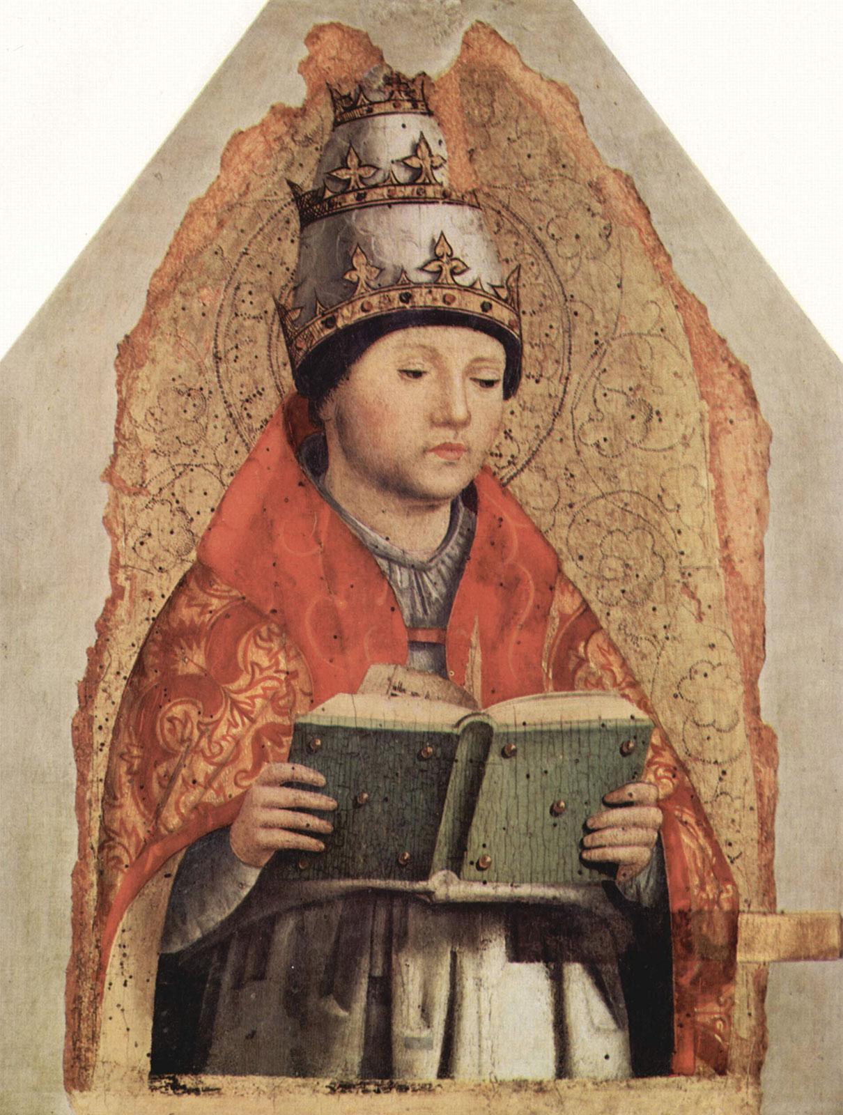 San Gregorio Magno (opera di Antonello da Messina, 1472-1473) • Palazzo Abatellis, Palermo