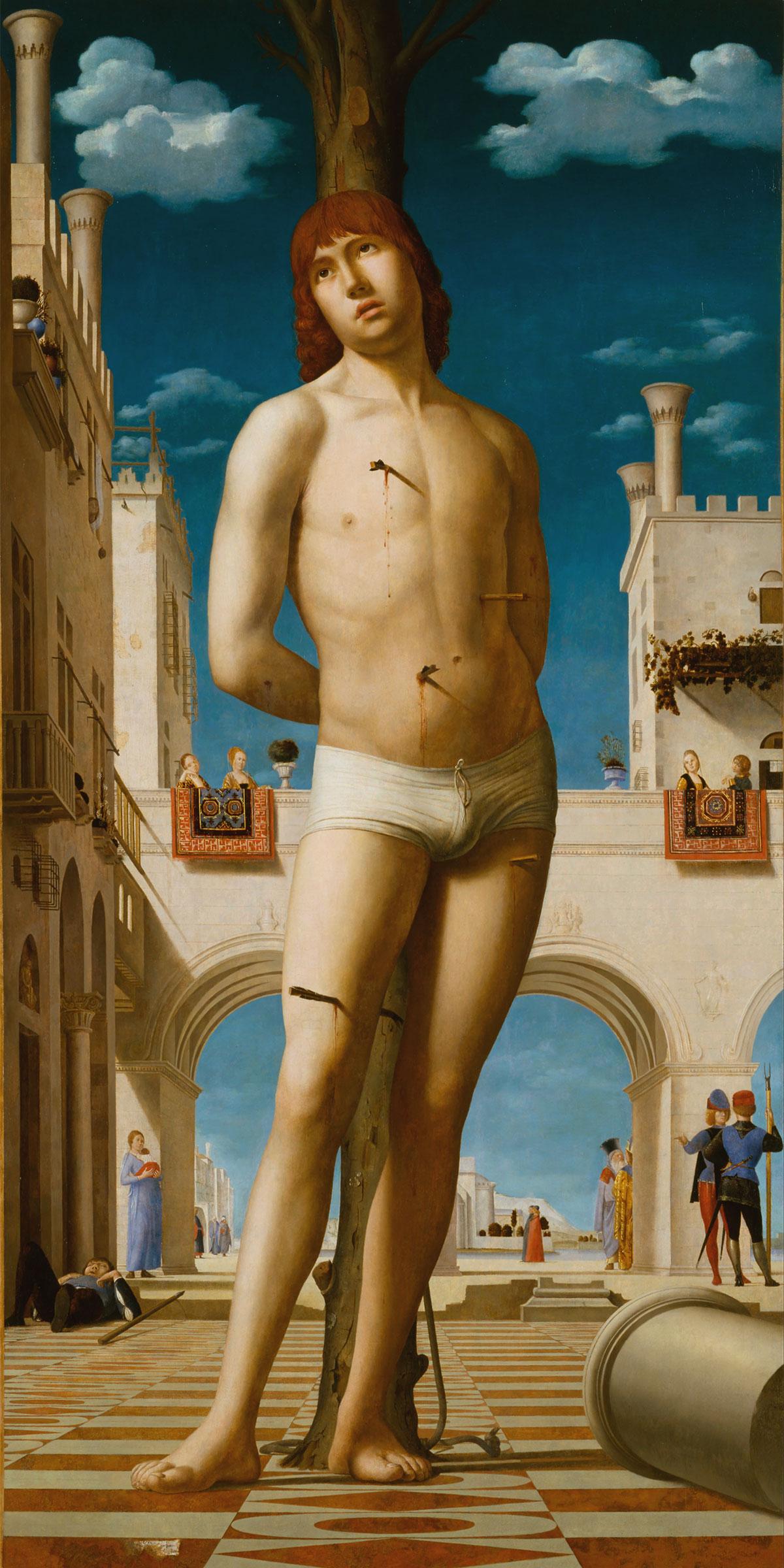 San Sebastiano, opera di Antonello da Messina - St. Sebastian