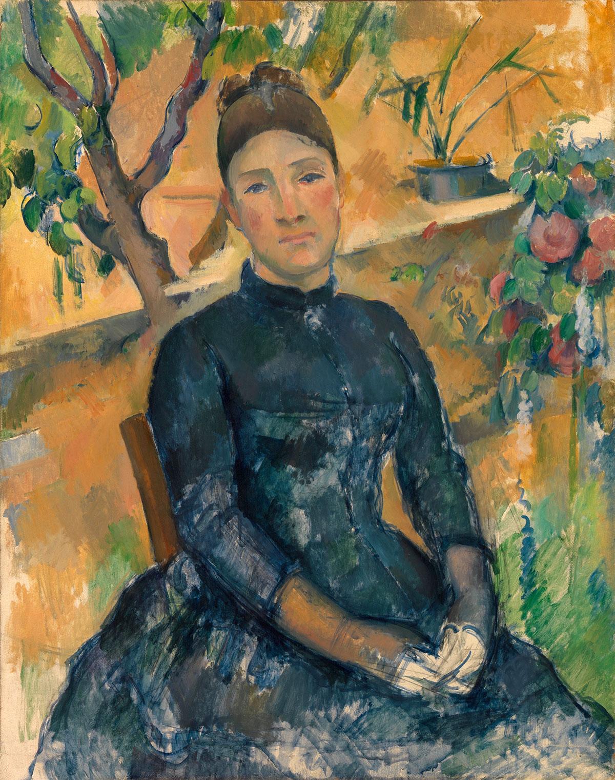 La signora Cézanne nella serra - Madame Cézanne in the conservatory - Madame Cézanne au conservatoire