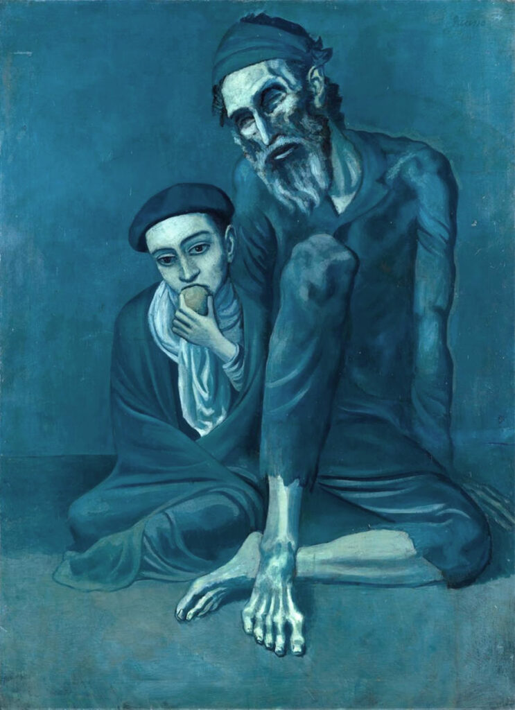 Vecchio cieco e ragazzo – Old Jew and a Boy (Blind Beggar with a Boy) – Pablo Picasso, 1903