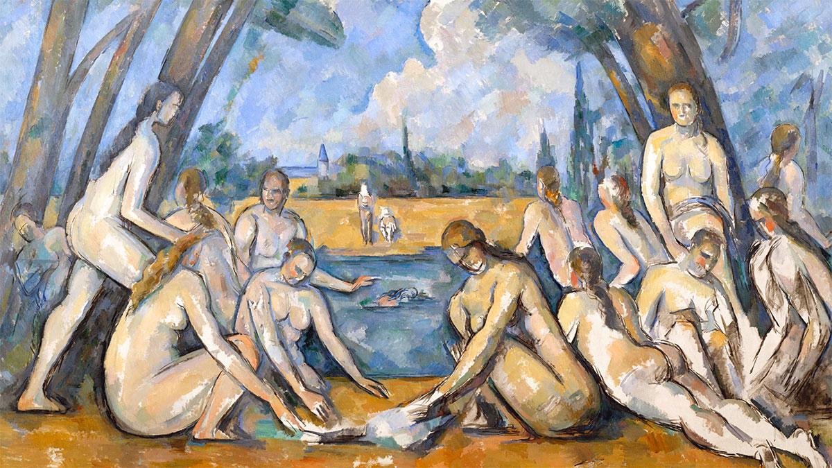 Grandi Bagnanti Cézanne dettaglio