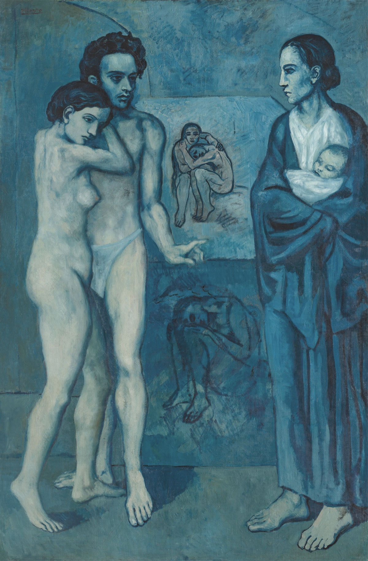 La vita (La vie) - Picasso, 1903 - Quadro del Periodo blu