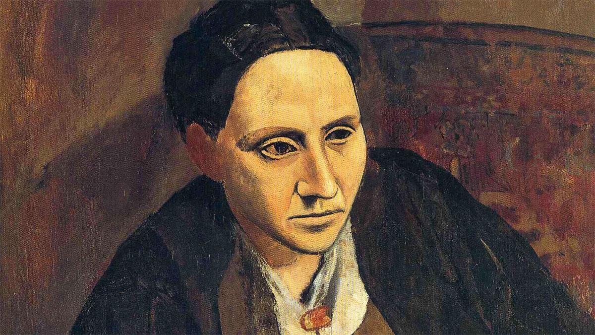 Ritratto Gertrude Stein Picasso dettaglio