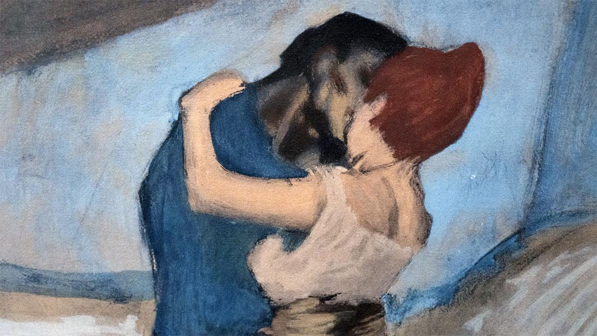 L'appuntamento o Abbraccio - Picasso - dettaglio del quadro