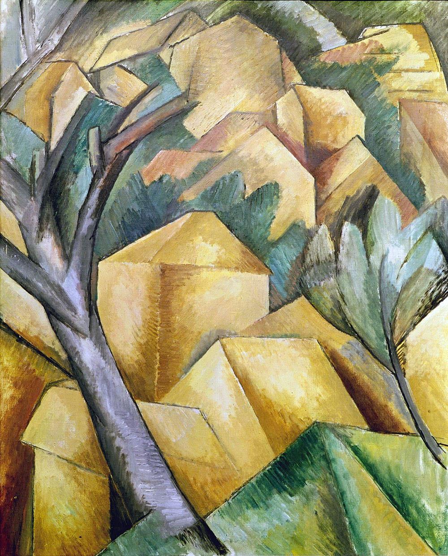 Case a l'Estaque (Maisons à l'Estaque) – Houses at L'Estaque, quadro di Georges Braque