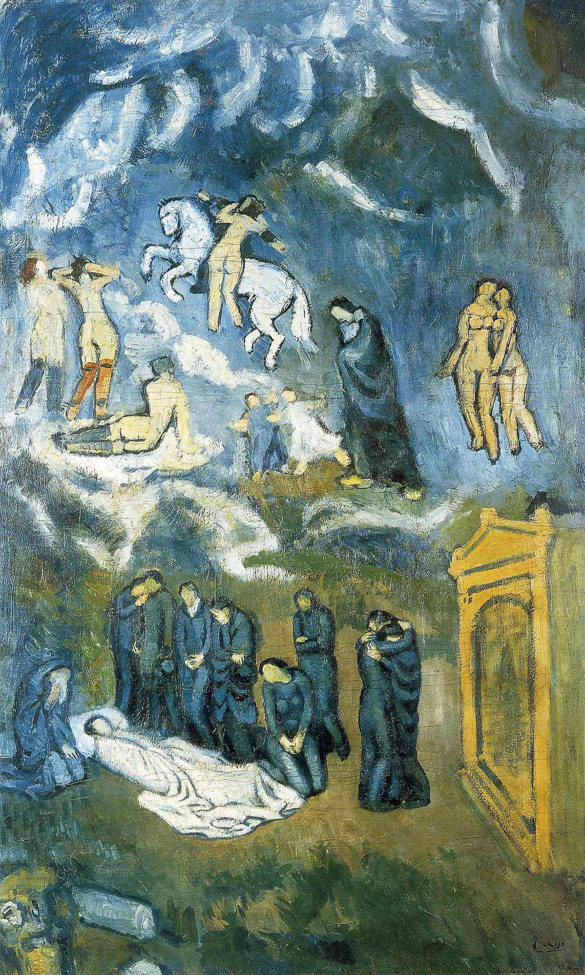 Evocazione, il Funerale di Casagemas – Quadro di Pablo Picasso (1901)
