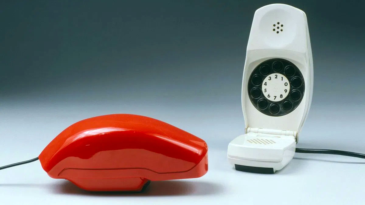 Telefono Grillo design rosso bianco