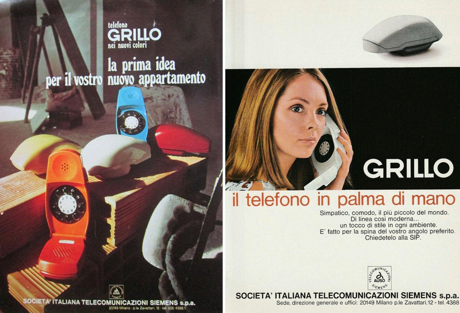 Telefono Grillo: pubblicità vintage