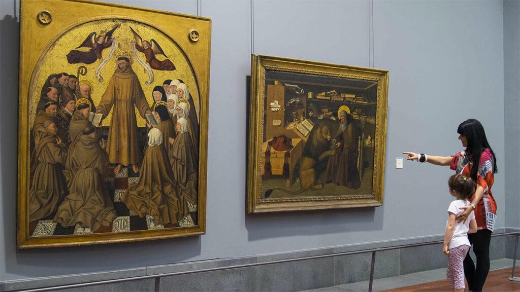 Museo di Napoli Capodimonte: San Francesco e San Girolamo, opere di Colantonio