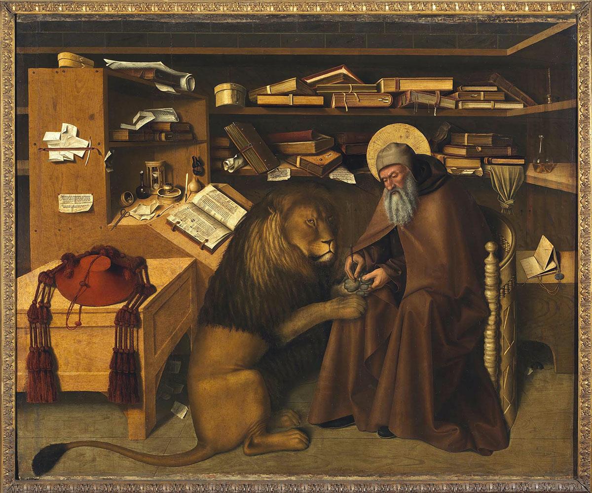 San Girolamo nello studio, opera di Colantonio quadro picture