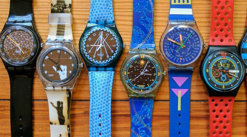 Alcuni modelli Swatch degli anni '80