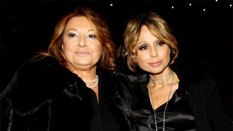 Marina Berlusconi con la madre Carla Elvira Dall'Oglio