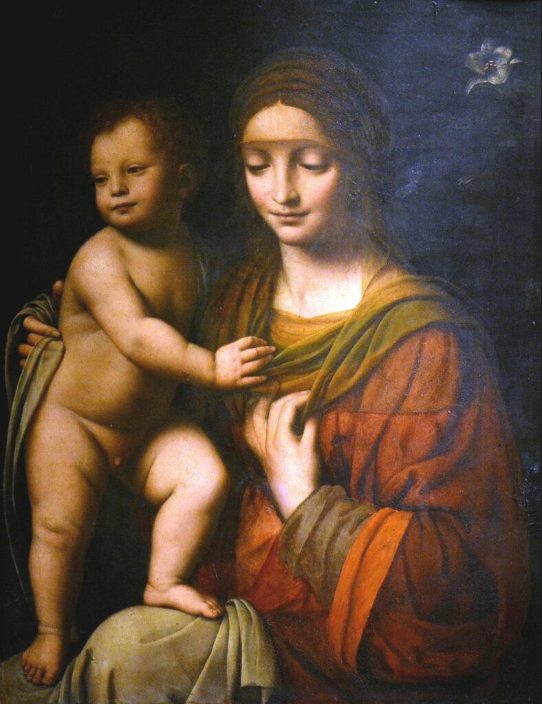 Madonna con il Bambino, opera di Bernardino Luini
