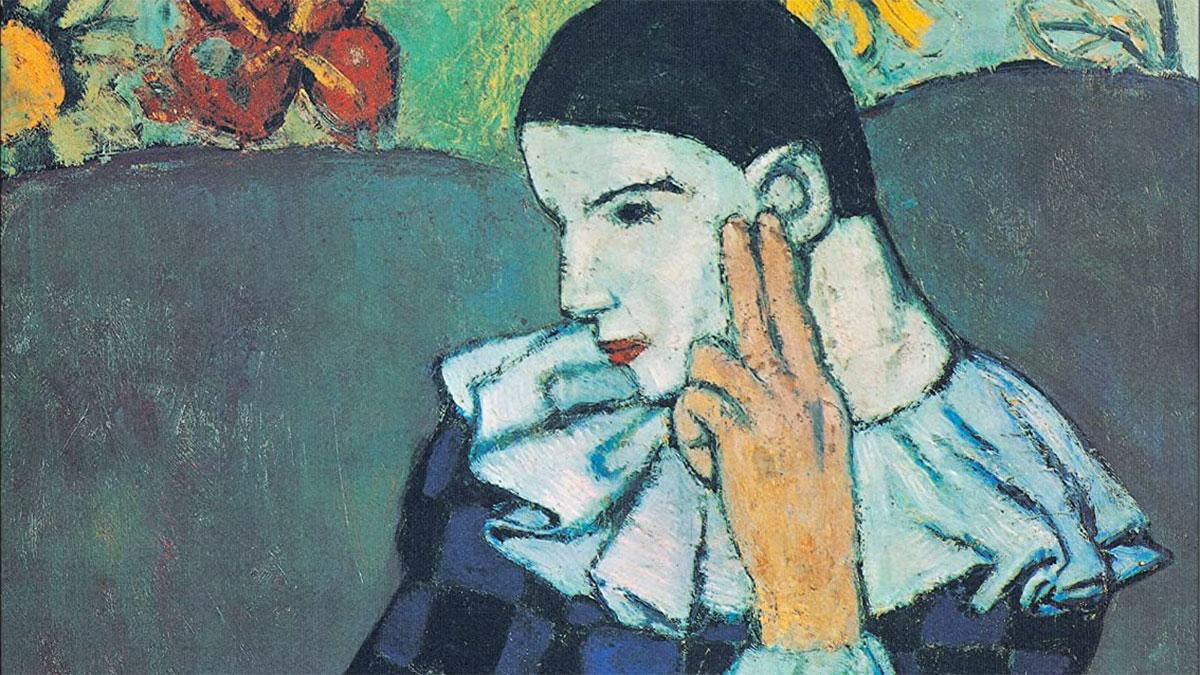 Arlecchino Pensoso Picasso dettaglio